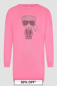 Karl Lagerfeld Girls Pink Dress