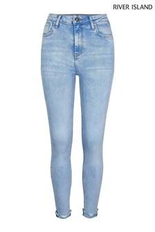 River Island Light Denim High Rise Skinny Vixen Bum Sculpt Jeans