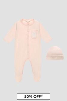 Chloe Kids Baby Girls Pink Sleepsuit Set