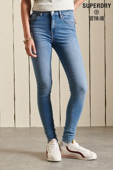 Superdry Blue High Rise Skinny Jeans