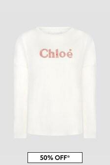 Chloe Kids Girls Ivory T-Shirt