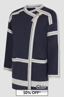 Chloe Kids Girls Navy Coat