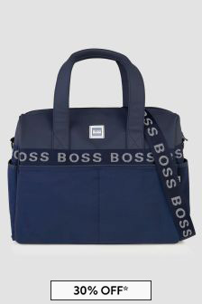 Boss Kidswear Baby Navy Changing Bag