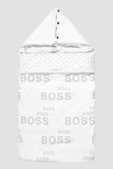 Boss Kidswear Baby Boys White Sleep Bag