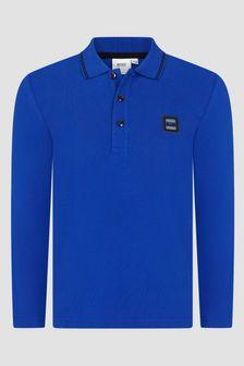 Boss Kidswear Boys Blue Polo Shirt