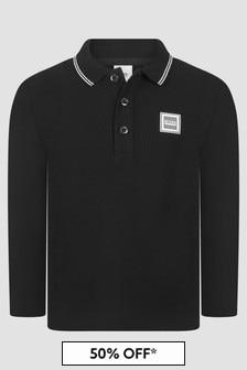 Boss Kidswear Boys Black Polo Shirt