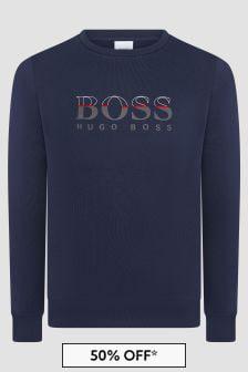Boss Kidswear Boys Navy Sweat Top