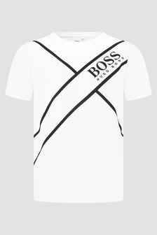 Boss Kidswear Boys White T-Shirt