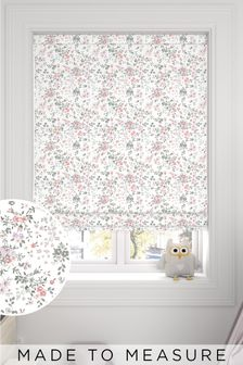 Pink Ditsy Print Made To Measure Roman Blind