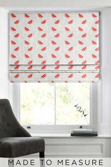 Red Flora Made To Measure Roman Blind