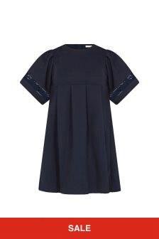Chloe Kids Girls Navy Dress