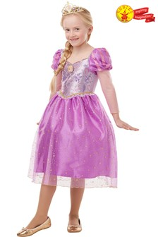 Rubies Glitter And Sparkle Disney Princess Rapunzel Fancy Dress Costume