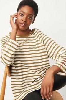 Button Stripe Tunic