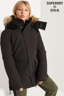 Superdry Black Code Everest Parka Coat