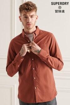 Superdry Orange Studios Organic Cotton Micro Check Shirt