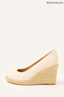 Monsoon Pink Elena Espadrille Wedge Sandals