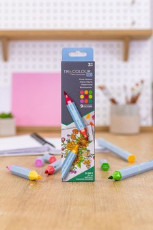 Set of 3 Crafter's Companion Tri Colour Water Based Blendable Marker Pens