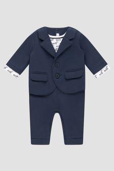 Boss Kidswear Baby Boys Navy Rompersuit
