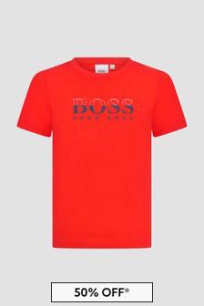 Boss Kidswear Boys Red T-Shirt