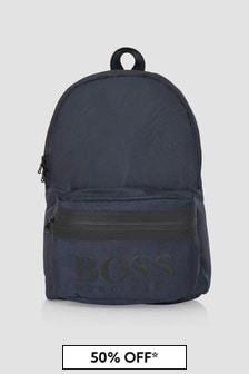 Boss Kidswear Boys Navy Backpack