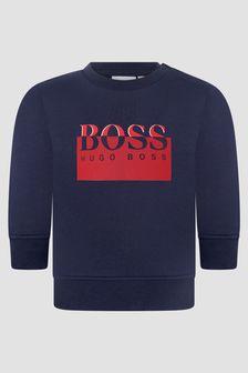 Boss Kidswear Baby Boys Navy Sweat Top