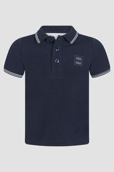 Boss Kidswear Baby Boys Navy Polo Shirt
