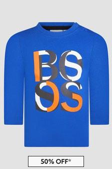 Boss Kidswear Baby Boys Blue T-Shirt