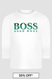 Boss Kidswear Baby Boys White T-Shirt