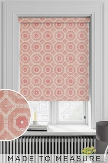 Red Geo Tiles Made To Measure Roller Blind