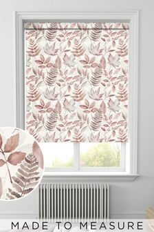 Red Leaf Silhouette Made To Measure Roller Blind