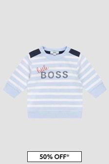 Boss Kidswear Baby Boys Blue Sweat Top