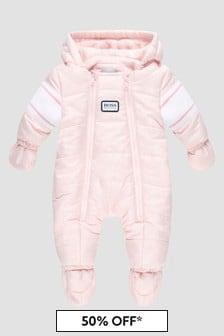 Boss Kidswear Baby Girls Pink Snow Suit