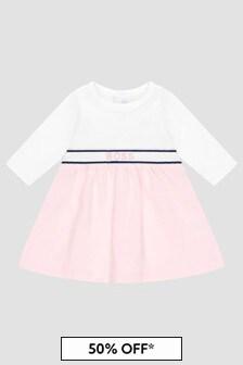 Boss Kidswear Baby Girls White Dress