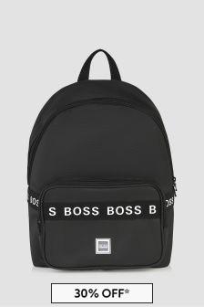 Boss Kidswear Boys Black Backpack