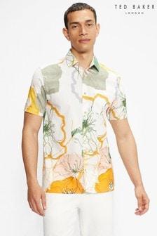 Ted Baker Knittin Short Sleeve Oversized Print Shirt