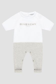 Givenchy Kids Baby White Rompersuit