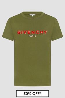 Givenchy Kids Boys Khaki T-Shirt