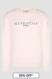 Givenchy Kids Girls Pink Sweat Top