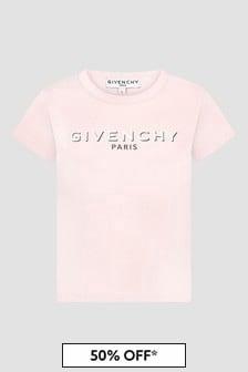 Givenchy Kids Girls Pink T-Shirt
