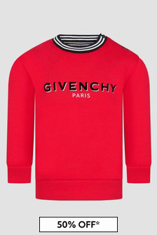 Givenchy Kids Baby Boys Red Sweat Top