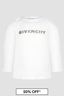 Givenchy Kids Baby Girls White T-Shirt