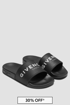 Givenchy Kids Black Sandals