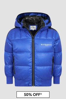 Givenchy Kids Boys Blue Jacket
