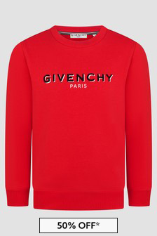 Givenchy Kids Boys Red Sweat Top