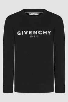 Givenchy Kids Boys Black Sweat Top