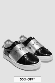 Givenchy Kids Girls Black Trainers