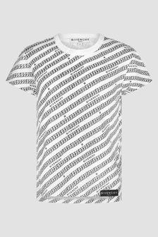 Givenchy Kids Girls White T-Shirt
