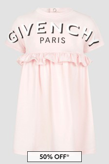 Givenchy Kids Baby Girls Pink Dress