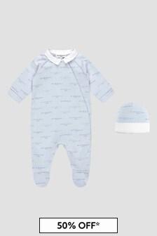 Givenchy Kids Baby Boys Blue Sleepsuit Gift Set