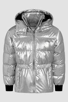 Givenchy Kids Girls Silver Jacket